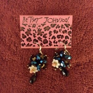 Glittering Blue Betsy Johnson Earrings
